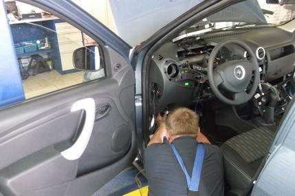 STO78.ru Установка сигналзации Рено Логан (Renault Logan) - сто автосервис в купчино авто ремонт санкт-петербург